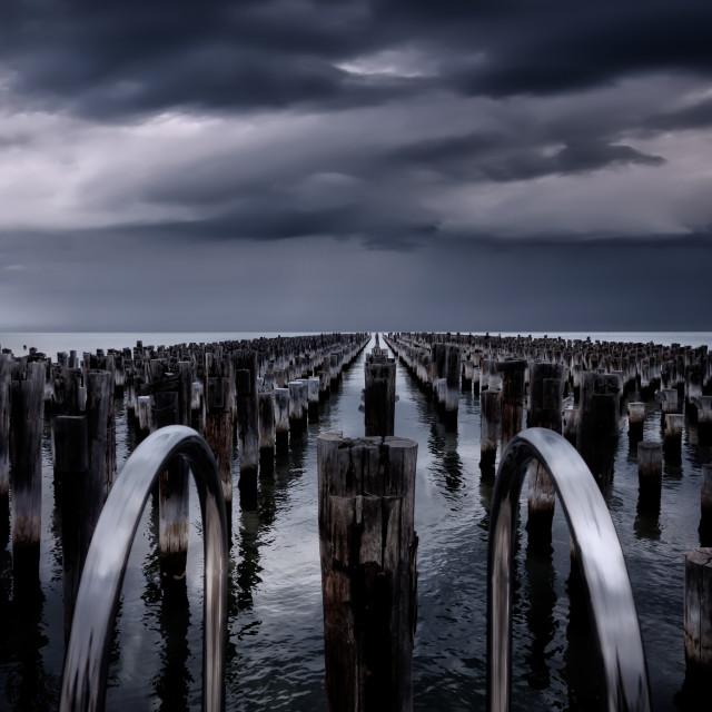 """Prince's Pier - Port Melbourne"" stock image"