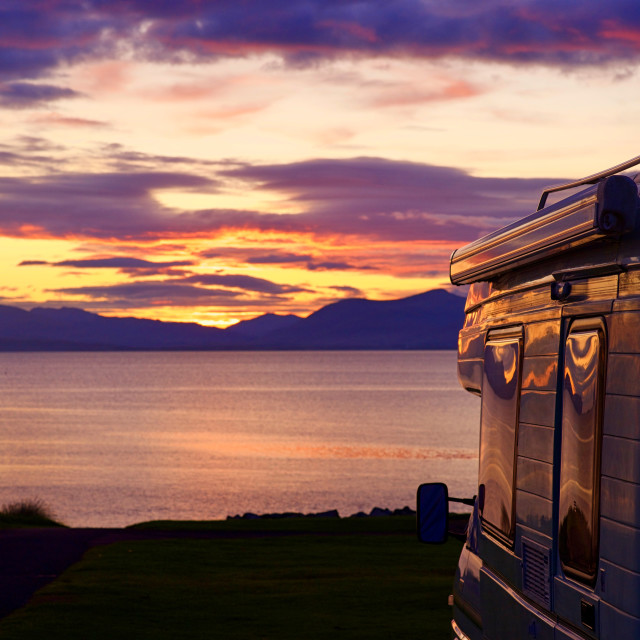 """""""Sunset over the Island of Mull"""" stock image"""