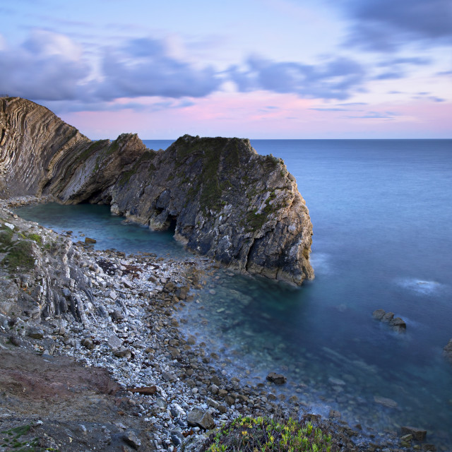 """Stair Hole Sunset"" stock image"