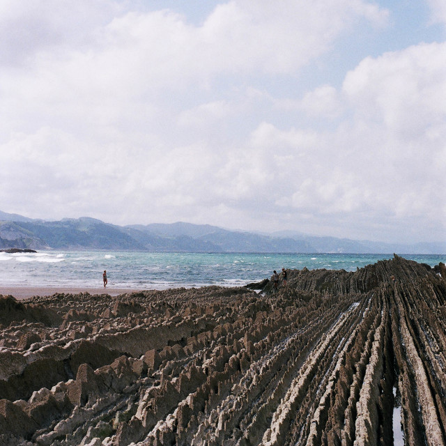 """ZUMAIA BEACH - SPAIN"" stock image"