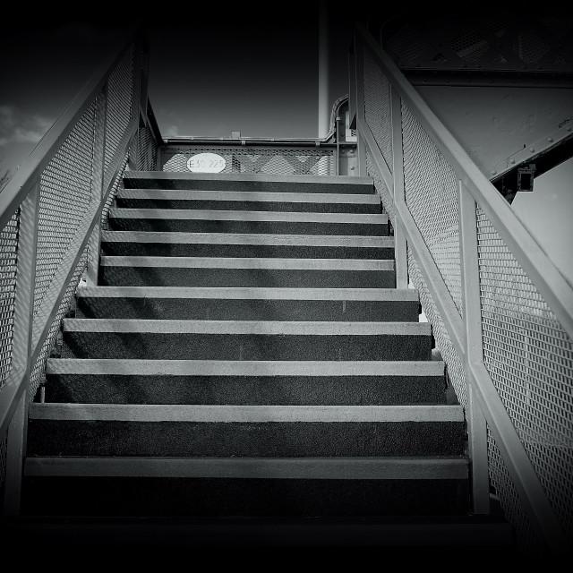 """Dark Steps"" stock image"