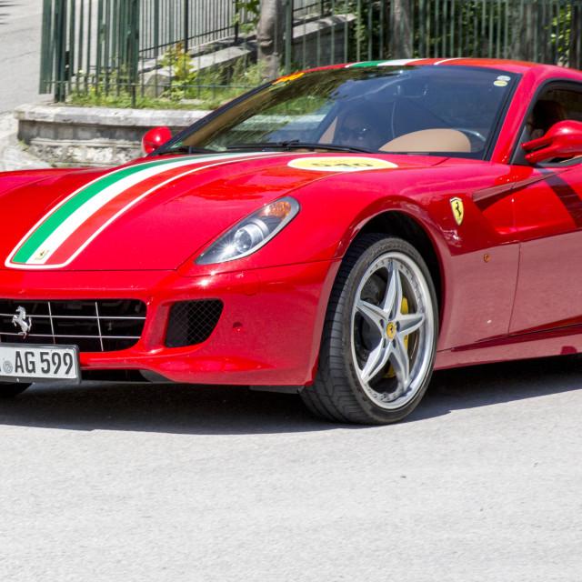 """""""RED FERRARI 599 GTB FIORANO _56A4289"""" stock image"""