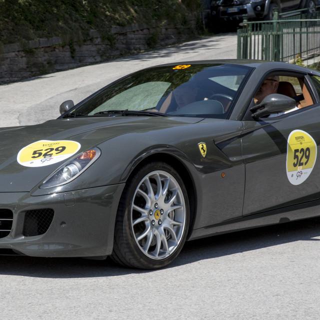 """""""Gray FERRARI 599 GTB FIORANO _56A4286"""" stock image"""