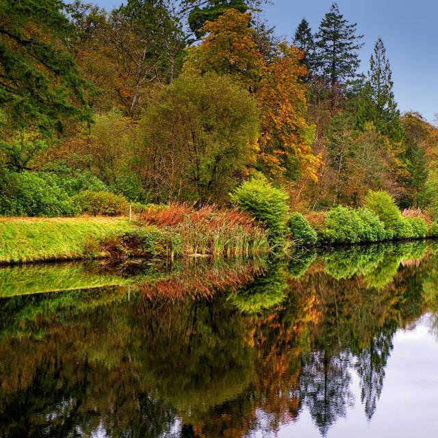 """Crinan Canal"" stock image"