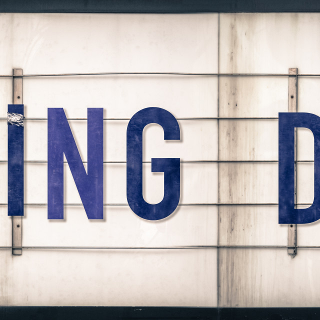 """""""Closing Down Marquee Sign"""" stock image"""