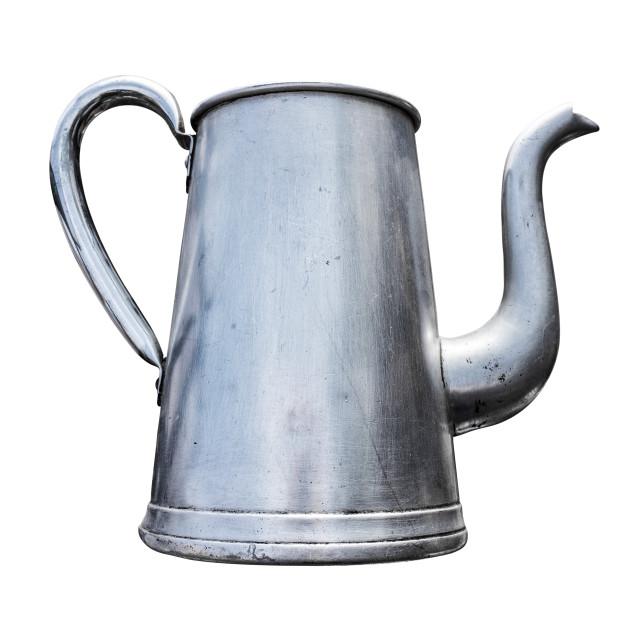 """Antique Metal Teapot"" stock image"