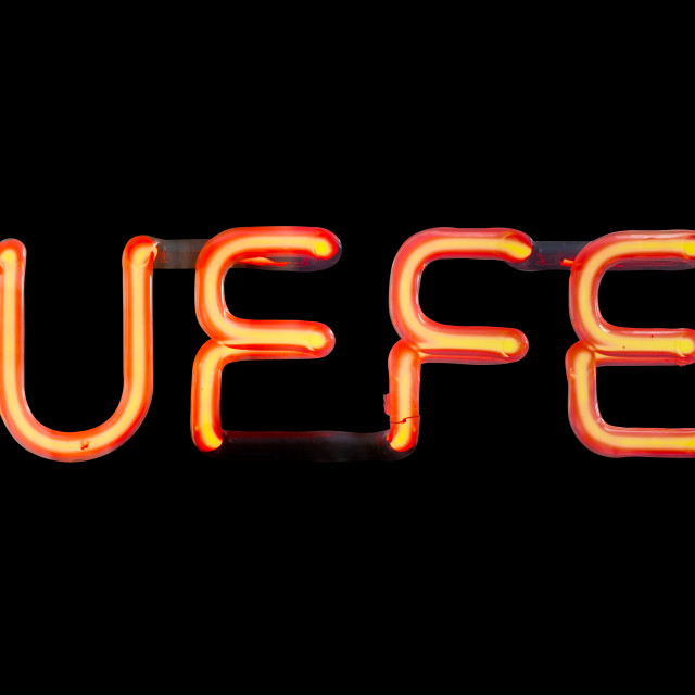 """""""Isolated Neon Buffet Sign"""" stock image"""
