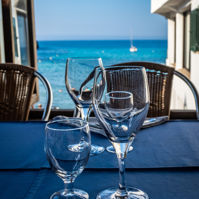 """""""Luxurious Restaurant With Ocean View"""" stock image"""