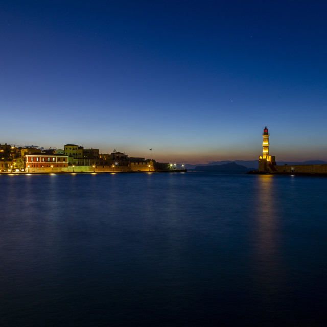 """""""The old port of Chania"""" stock image"""