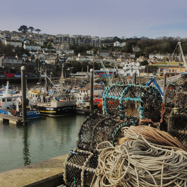 """Newlyn Harbour, Cornwall UK."" stock image"