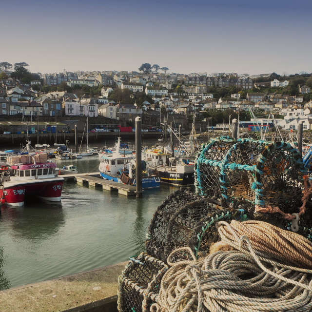 """Newlyn Harbour, Cornwall, UK"" stock image"