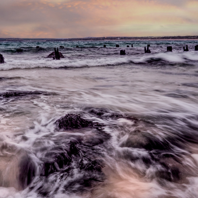 """Seascape at St. Ives, Cornwall, UK"" stock image"