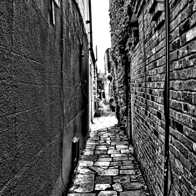 """""""Up the Alley"""" stock image"""