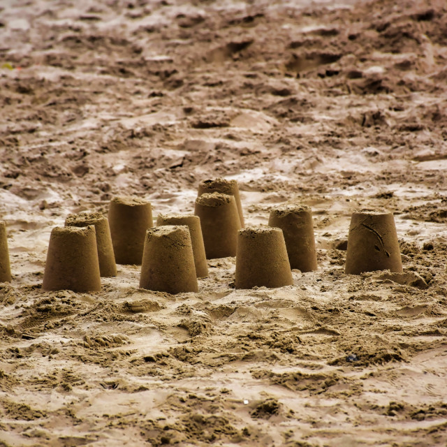 """""""Castles in the Sand"""" stock image"""