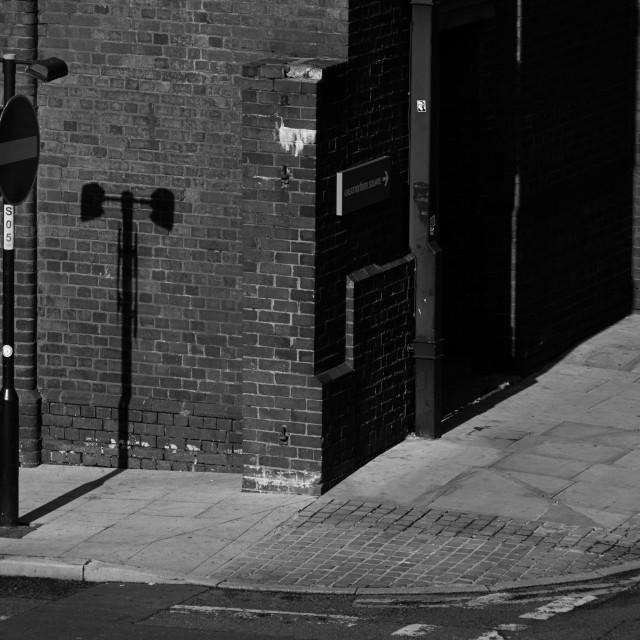 """Thinking corner, Manchester"" stock image"
