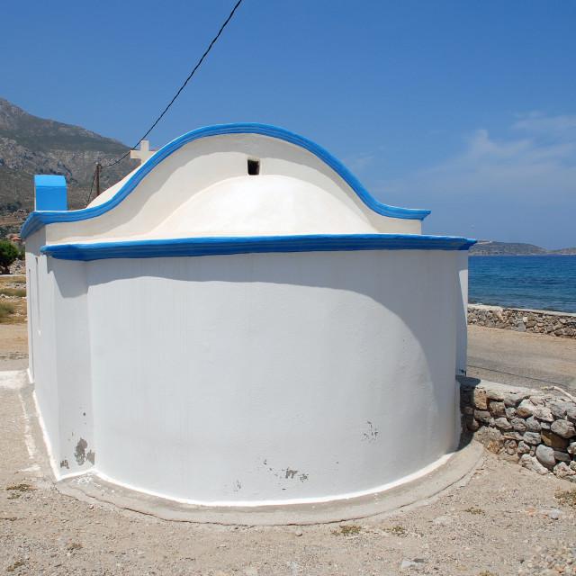 """Agios Antonios chapel, Tilos"" stock image"
