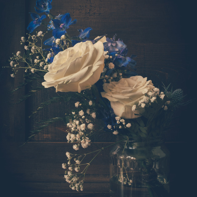 """""""Funeral bouquet still life"""" stock image"""