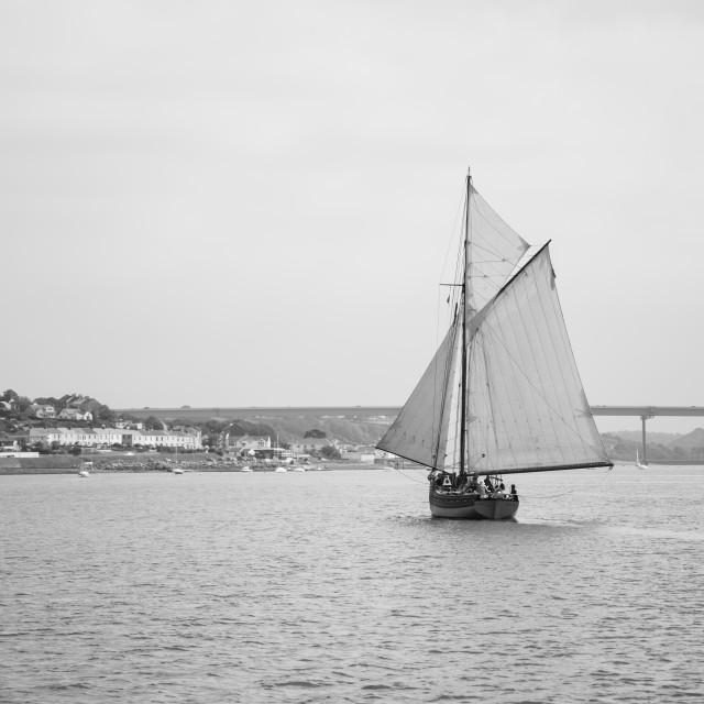 """Sailing boat Pilot Cutter Edith Gray"" stock image"