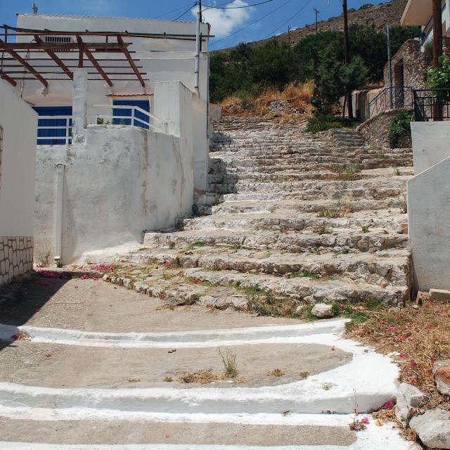 """Livadia village, Tilos"" stock image"
