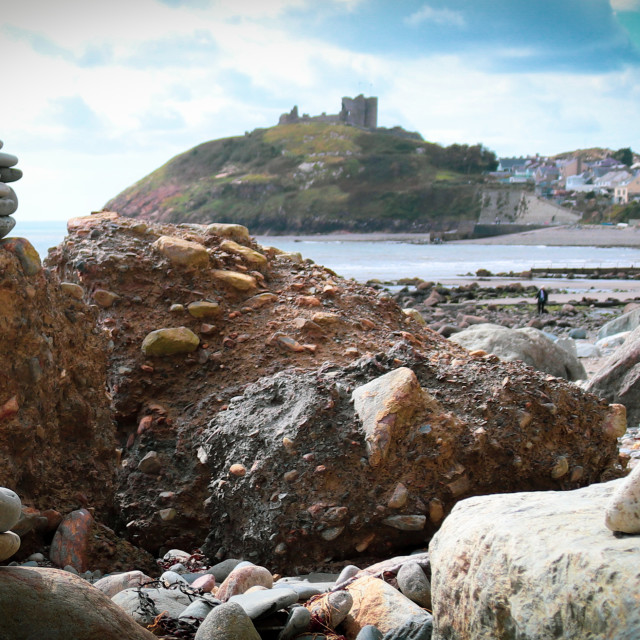 """""""Criccieth Castle"""" stock image"""