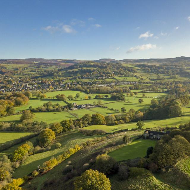 """""""Hathersage in Autumn, Derbyshire"""" stock image"""
