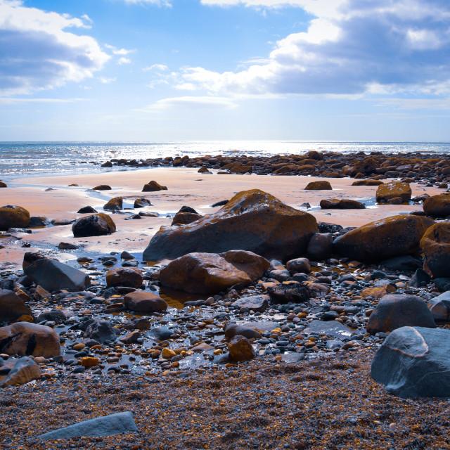 """Criccieth Beach"" stock image"