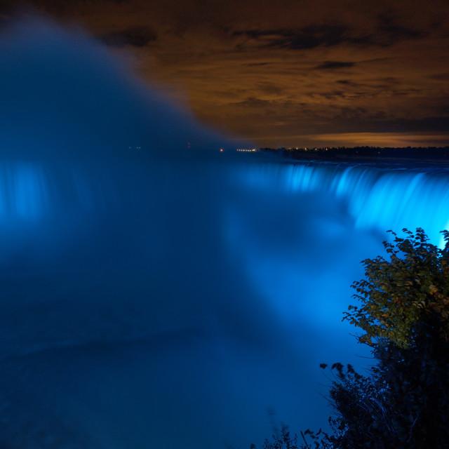 """""""Niagara by Night"""" stock image"""