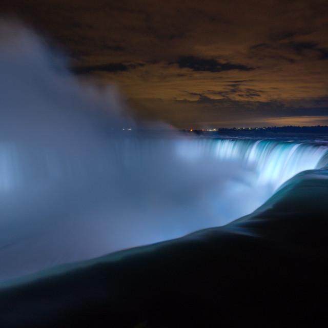 """""""Niagara by Night."""" stock image"""