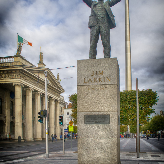 """Jim Larkin on O'Connell Street, Dublin"" stock image"