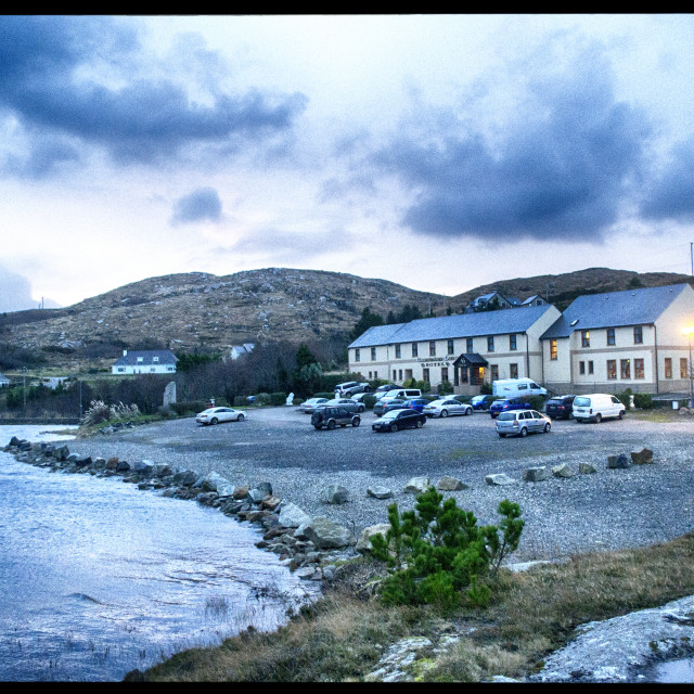 """Caisleain Oir Hotel, Donegal, Ireland."" stock image"