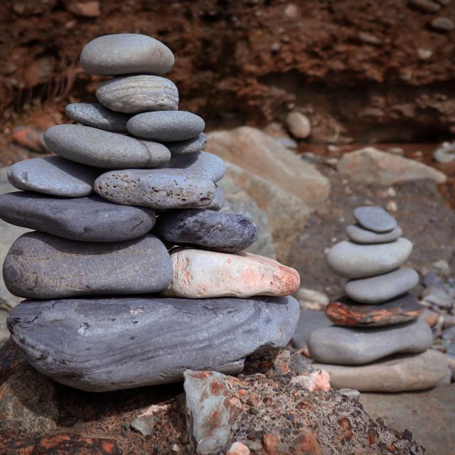"""Seaside Stones"" stock image"