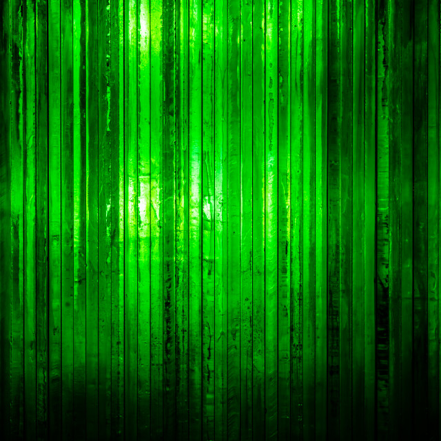 """""""Thick bright green glass with light shining through from the bac"""" stock image"""