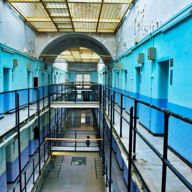 """""""Prison landing"""" stock image"""