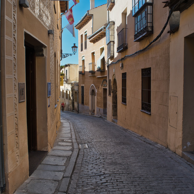 """Segovia back street"" stock image"