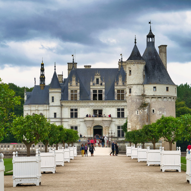 """""""Chateau de Chenonceau"""" stock image"""