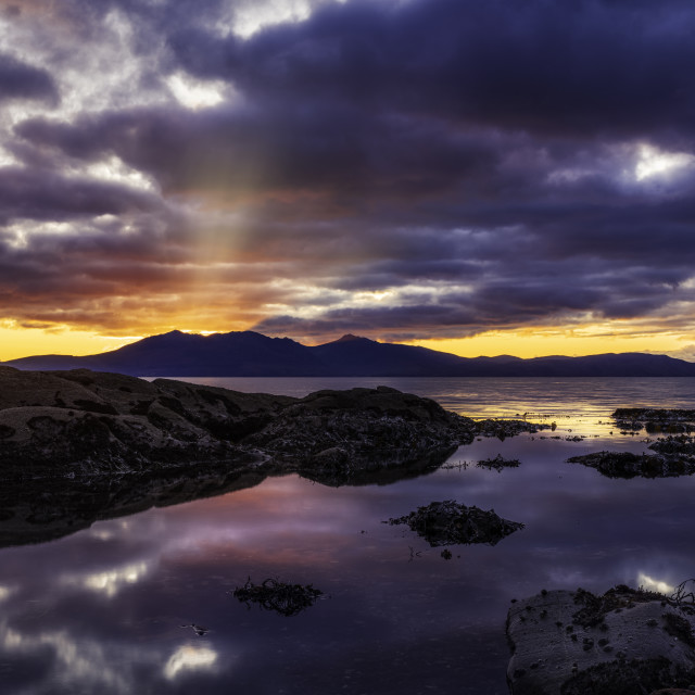"""Arran on Fire"" stock image"