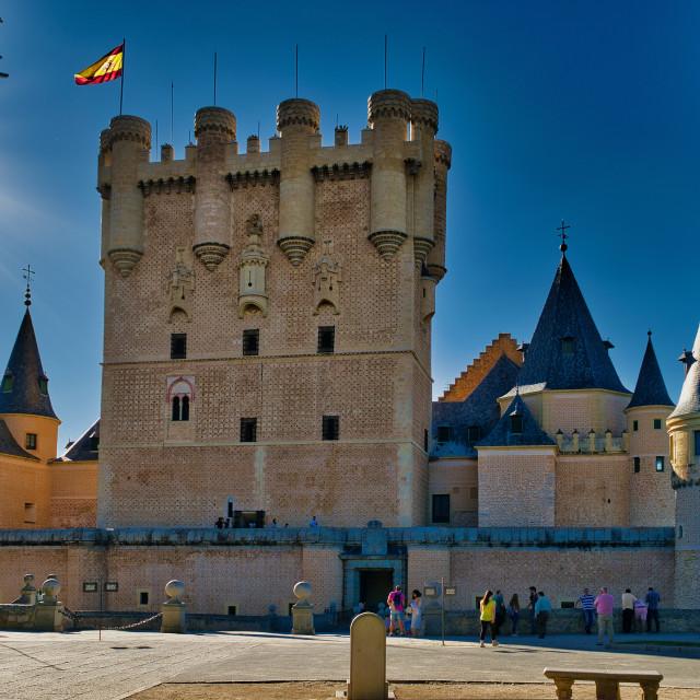 """""""Alcazar de Segovia"""" stock image"""