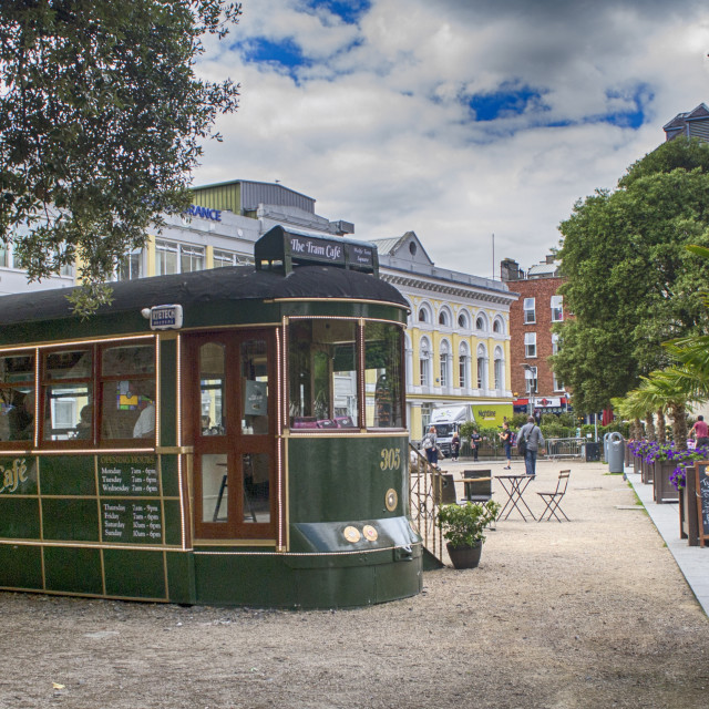 """The Tram Cafe"" stock image"