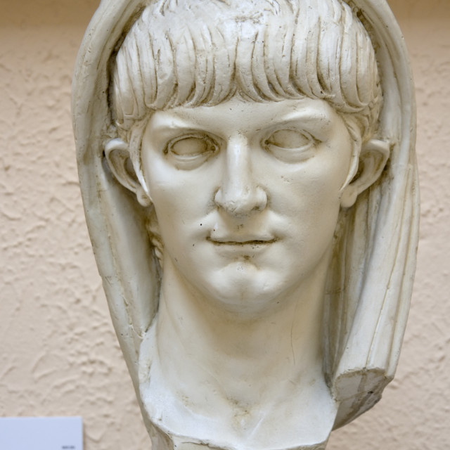 """""""Portrait of a young man, possibly Nero (replica)"""" stock image"""