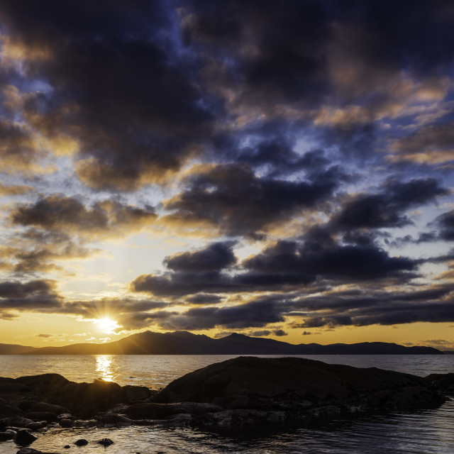"""Arran Sunset"" stock image"
