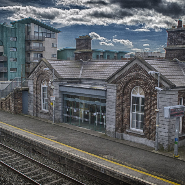 """Balbriggian Train Station"" stock image"