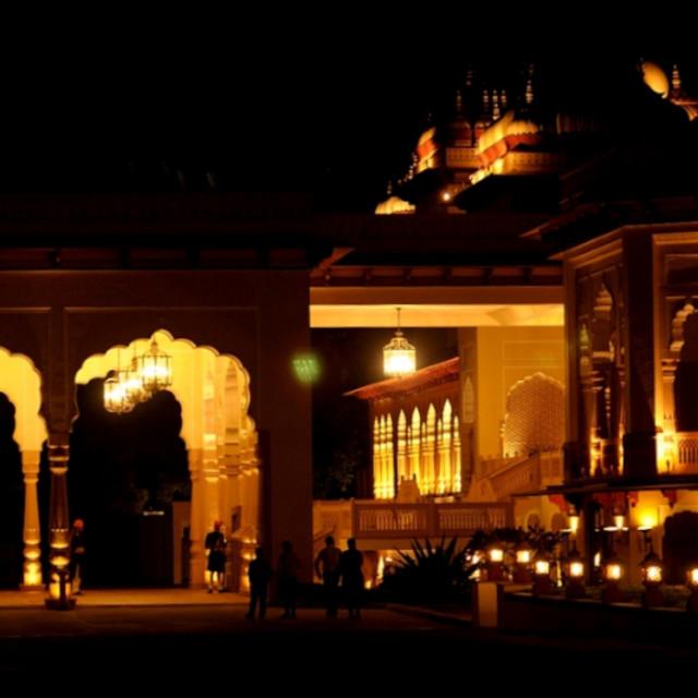 """Palace at night"" stock image"