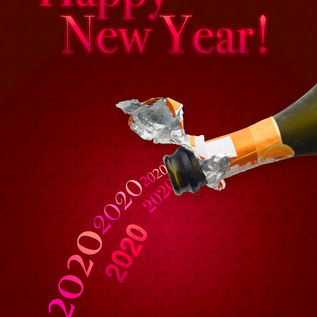 """""""Champagne for New Year 2020"""" stock image"""