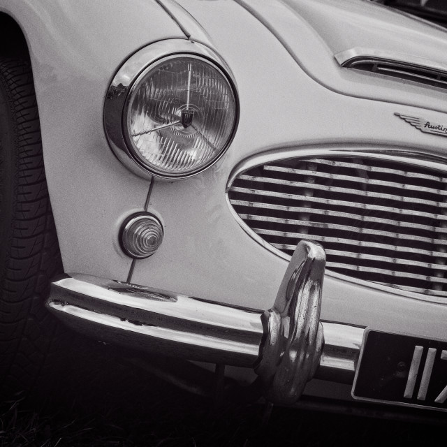 """""""Austin Healey Classic Sports Car Front"""" stock image"""