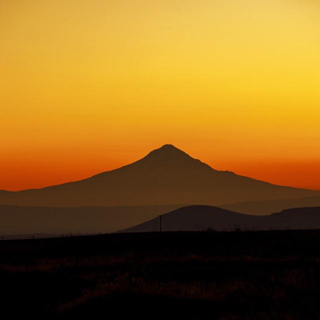 """Mt. Hood Sunset"" stock image"