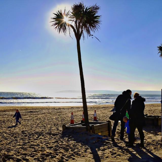 """""""Costa del Bournemouth"""" stock image"""