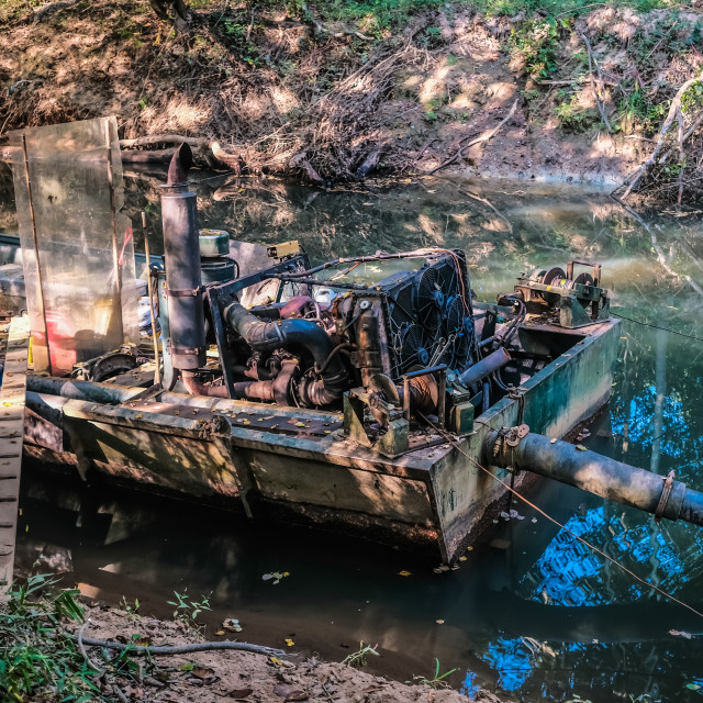 """Old Dredging Machine"" stock image"