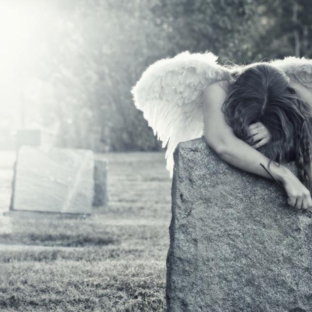 """""""Mourning Angel"""" stock image"""