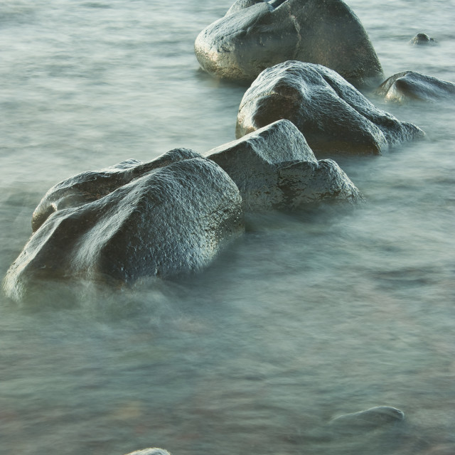 """Rocks in Water"" stock image"