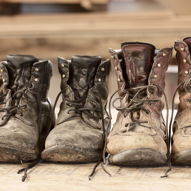 """""""Work Boots"""" stock image"""